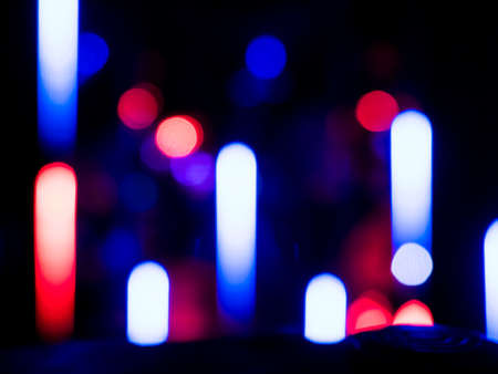 Colour blurred bokeh neon lights