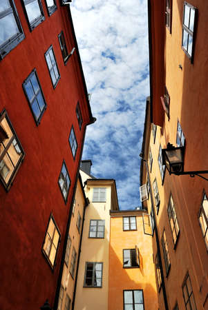 In the narrow streets of the Old Town. Stockholm, Sweden photo
