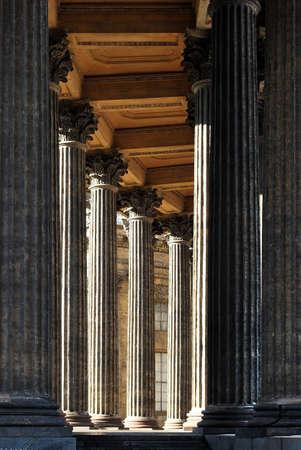 Corinthian columns of Kazan Cathedral. Saint-Petersburg photo
