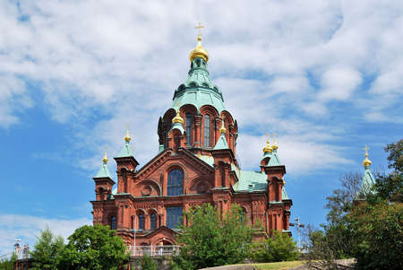 the largest: Helsinki. Cathedral of the Assumption, 1868. Arch. AM GORNOSTAYEV. The largest Orthodox cathedral in North and West Europe Stock Photo