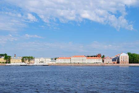 neva: St. Petersburg,  Neva river and the University embankment