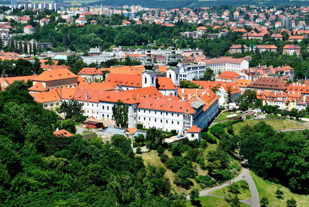 View of Prague and  Strahov Monastery from the Petrin hill