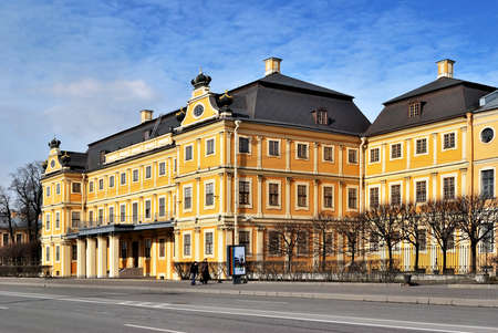 architectural style: Menshikov Palace in the arly baroque architectural style. St. Petersburg