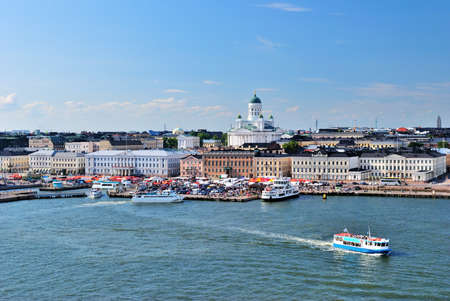helsinki: View of the central part of Helsinki from the sea