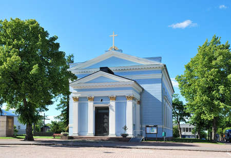 pilasters: Hamina, Finland. Very beautiful Lutheran church in the style of neoklasitsizm