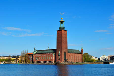 romanticism: Stockholm City Hall, an outstanding building  in the architectural style of National Romanticism Stock Photo