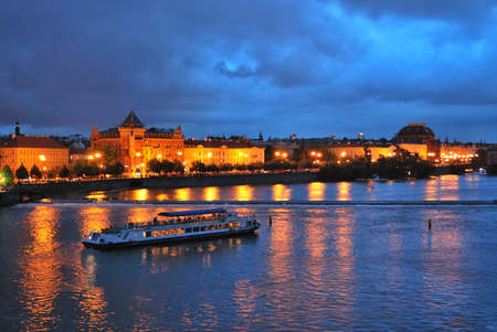 vltava: View of  Prague and  Vltava River from the Charles Bridge