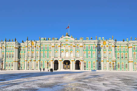 pilasters: Saint-Petersburg. The Winter Palace in a sunny winter day