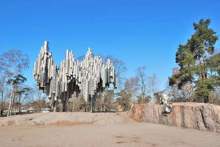 sibelius: Helsinki. Famous monument to the composer Sibelius