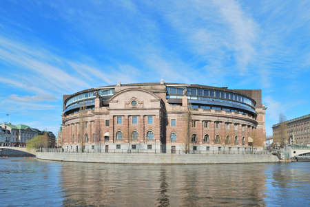 Stockholm. Riksdag building on a sunny spring day Stock Photo - 13437194