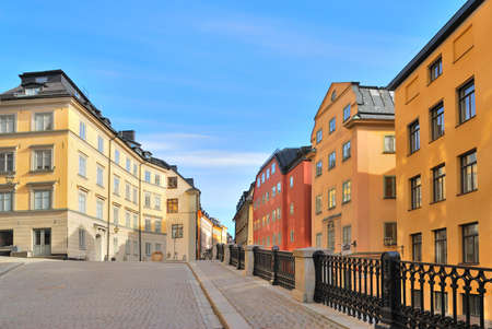 Stockholm, Sweden. Beautiful cozy narrow streets of the Old Town