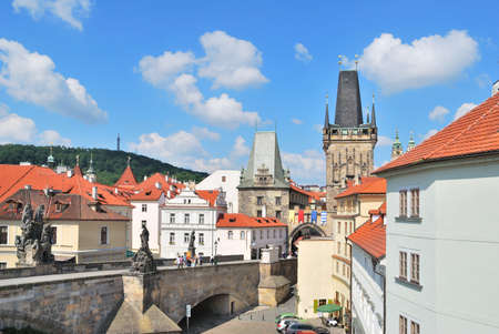 Prague. View of the Lesser Town Towers against very beautiful sky Stock Photo - 13620949