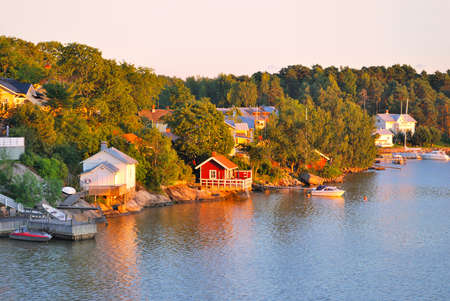 vicinity: Beautiful sunset in Finland in the vicinity of Turku