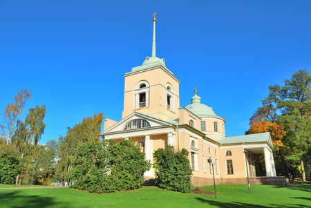 shady: Kotka, Finland. An old orthodox church in a shady park Isopuisto