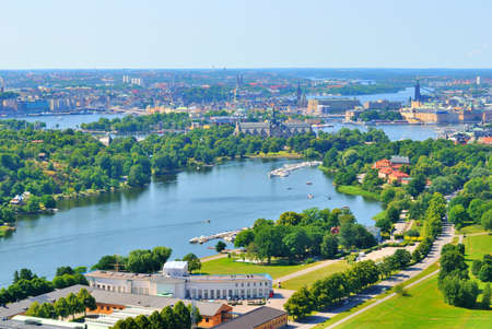 Sweden. Aerial view of Stockholm in a sunny summer day photo
