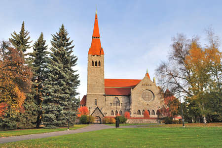 romanticism: Tampere, Finland. The cathedral in the style of national romanticism Stock Photo