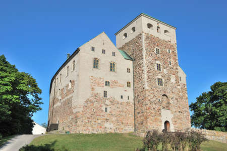 turku:  Medieval castle in the town of Turku, Finland Editorial