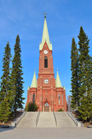 lutheran: Mikkeli, Finland. Lutheran Cathedral in a sunny spring morning