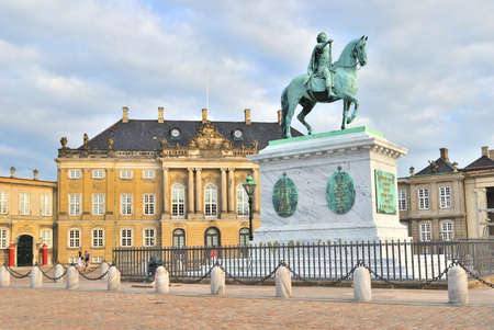 Copenhagen, Denmark. Architecture of the Amalienborg Palace Square