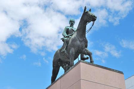 statesman: Helsinki, Finland. Monument to the great  statesman Mannerheim Stock Photo