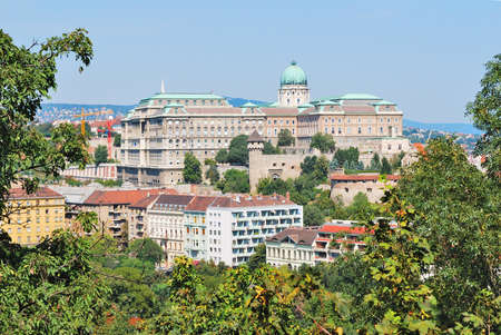 buda: Budapest, Hungary. Top-view of Buda  from the Gellert Hill