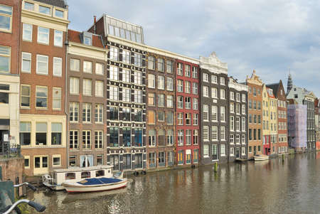 Netherlands. Beautiful buildings in the Old town of Amsterdam Stockfoto