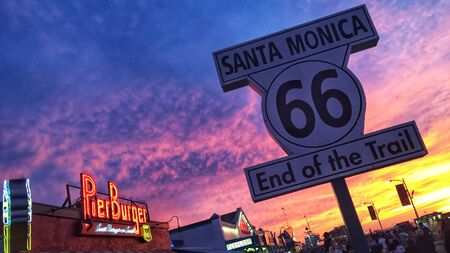 A beautiful picture of the end of the sign of the route 66