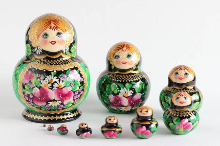 muñecas rusas: Buen conjunto de muñecas rusas Matryoshka en 10 piezas
