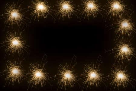 new year sparkle frame photo