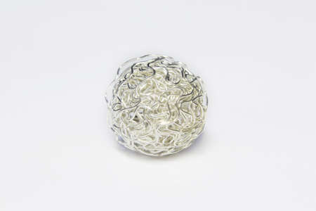 metal cord ball on white background Stock Photo - 6719702