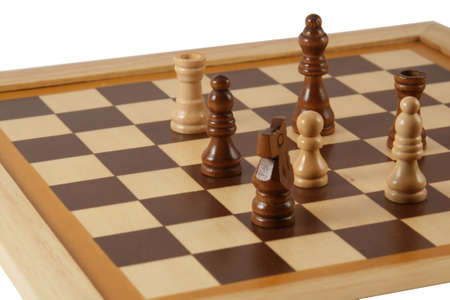 chellange: chess board with chess figures