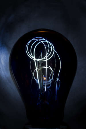 ultraviolet: blue ultraviolet light bulb
