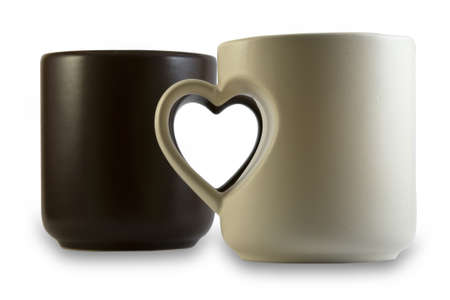 cups with heart shape handles Stock Photo - 13607087