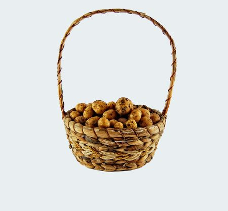 potato basket: potato basket Stock Photo