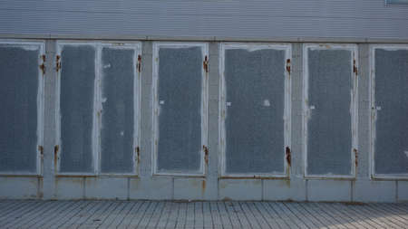 detail of industrial metal cabinets background 版權商用圖片