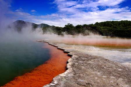 acque con punto di ebollizione champange lago Nuova Zelanda