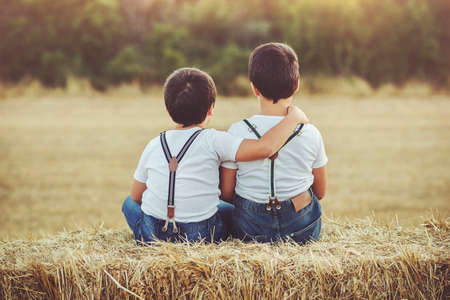 complicity: Brothers embraced sitting in the field