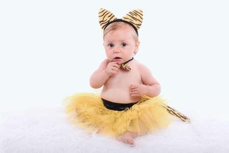 tigress: funny baby with tigress costume