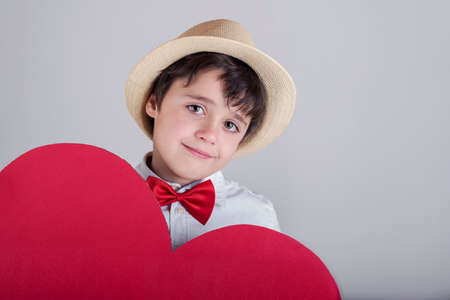 happy child with heart Valentines