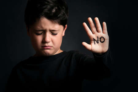 Abused child Stock Photo