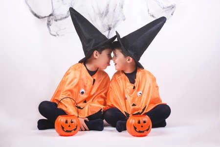 Happy children at halloween