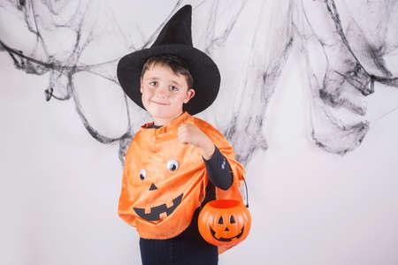 Happy child on halloween