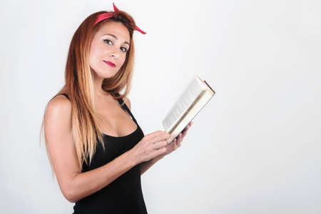 pretty girl with a book