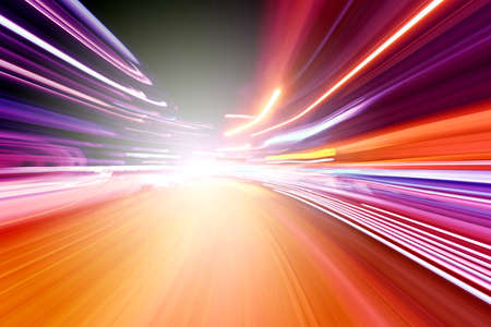 speed line: light motion Stock Photo