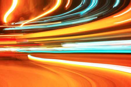 internet traffic: light motion Stock Photo
