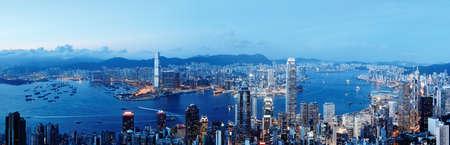 Porto di victoria di Hong Kong Archivio Fotografico - 37369986