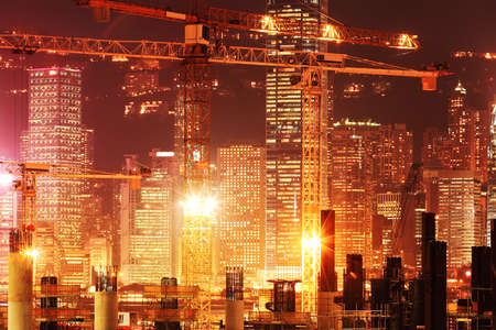 asia: Construction works in Hong Kong