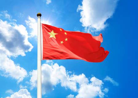 中国の国旗 写真素材