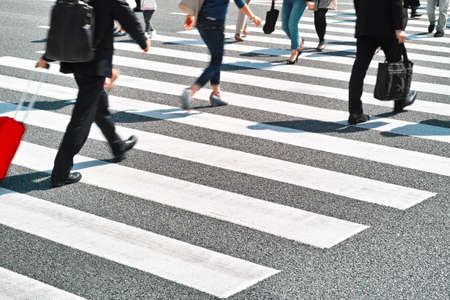 zebra crossing Stock Photo