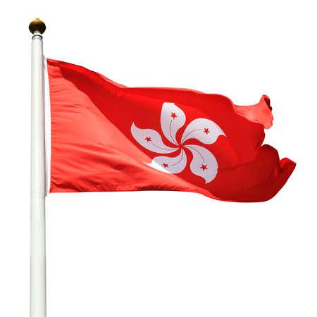Hong Kong Flag (cliping paths) photo